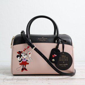 NWT Disney x Kate Spade Minnie Mouse Duffle Bag
